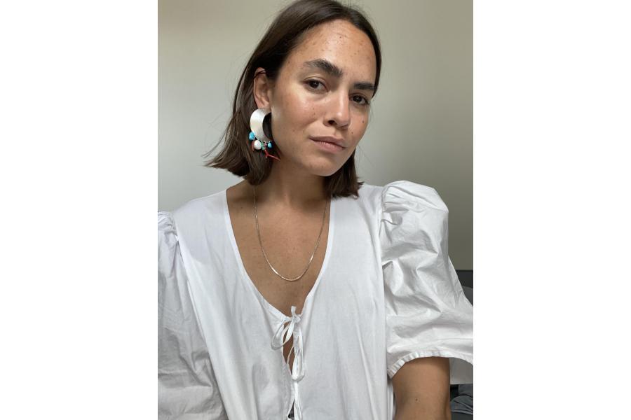 Statement earrings med Caroline Plummer
