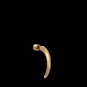 Small Horn Earring, förgyllt sterling silver