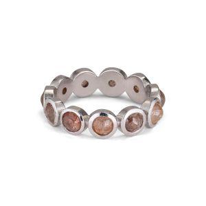 Rosecut Diamond Ring, 18 karats vitguld