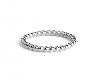 Small Ball Ring, sterling silver