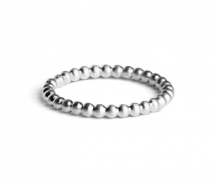 Medium Ball Ring, sterling silver