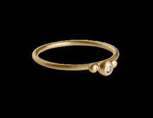 Small Diadem Ring, förgyllt sterling silver, 0.01 ct. diamant
