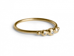 Medium Diadem Ring, förgyllt sterling silver