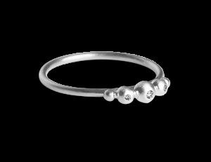 Medium Diadem Ring, sterling silver