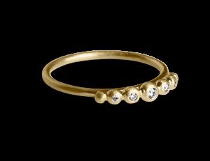 Big Diadem Ring, förgyllt sterling silver