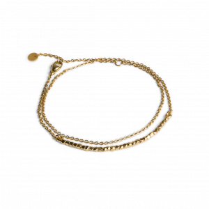 Bead Bracelet with Chain