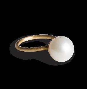 Big Pearl Ring, förgyllt sterlingsilver