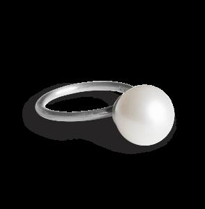 Big Pearl Ring, sterlingsilver