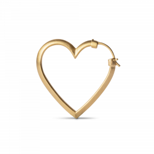 Heart of Love Earring, gold-plated sterling silver