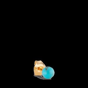 Splash Bead Stud  Turquoise, förgyllt silver