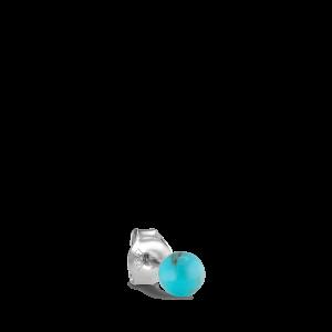 Splash Bead Stud  Turquoise, silver