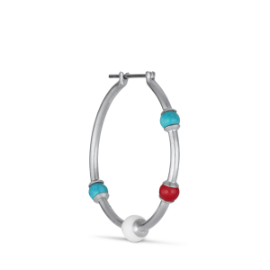 Splash Creole with turquoise, agate and coral, silver