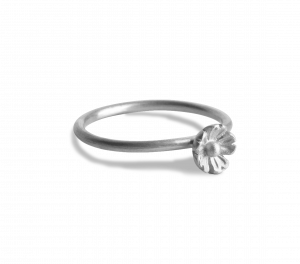 Small Flower Ring, sterling silver