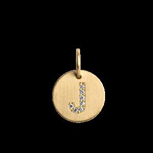 Kombination av en ankarkedja och medium Lovetag-hänge med diamanter, 18 karat guld