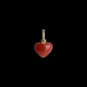 Coral Heart, 18 karat guld