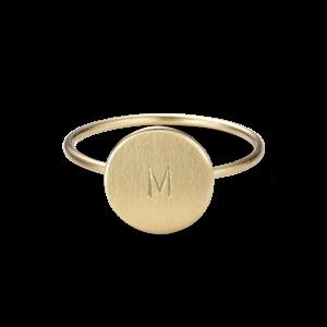 Medium Love Tag Ring, 18 karat guld