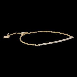 Pavé Bracelet, 18 karat guld, 0.14 ct diamanter