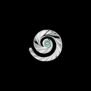 Impression Stud med smaragd, sterlingsilver
