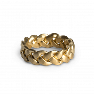 Big Braided Ring, förgyllt silver