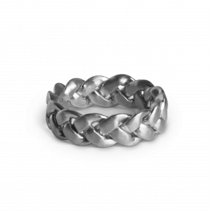 Big Braided Ring, sterling silver