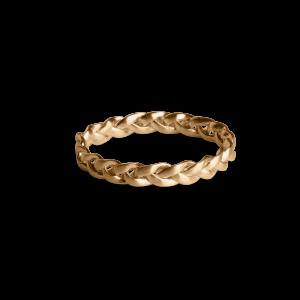 Small Braided Ring, förgyllt sterlingsilver