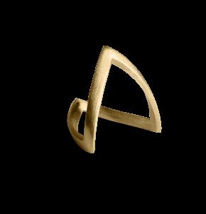V Ring, förgylld sterling silver