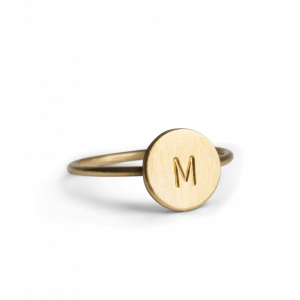 Lovetag Ring, förgyllt silver