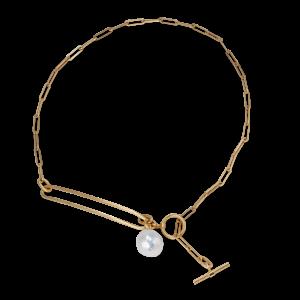 Salon Pearl, halsband, förgyllt sterlingsilver