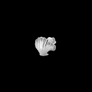 Salon Scallop Front örhänget, sterlingsilver