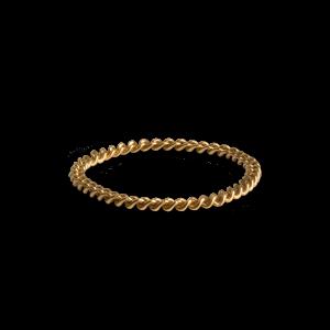 Small Chain Ring, förgyllt silver