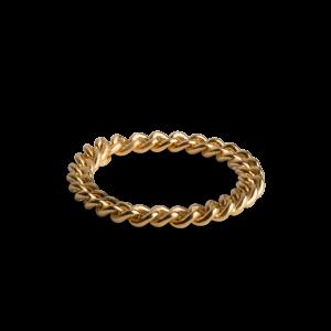Big Chain Ring, förgyllt silver