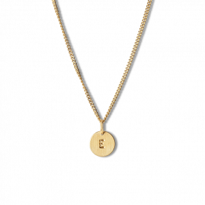 Combination of a Curb Chain and 1 Lovetag, gold-plated sterling silver