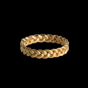 Medium Braided Ring, förgyllt sterlingsilver