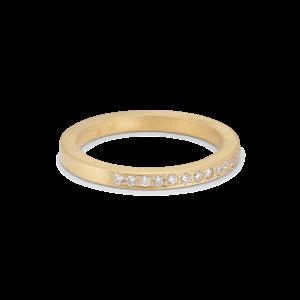 Big alliance ring, 18 karat guld, 0,01 ct diamanter