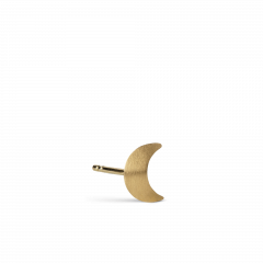 Small Half Moon Stud, gold plated sterling silver
