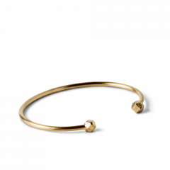 Simple Bead Bracelet, gold plated sterling silver