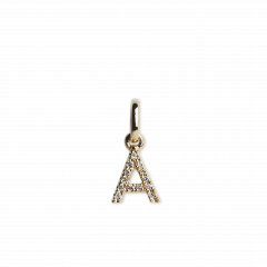 "Letter Pendant ""A""  with Diamonds, 18 karats guld"