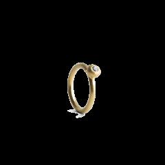 Diamond Twist Earring, förgyllt sterlingsilver