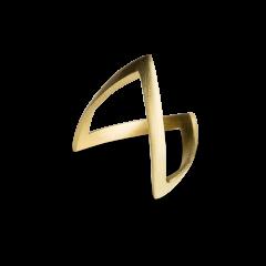 V Ring, 18 karat gold