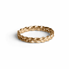 Small Braided Ring, förgyllt sterlingsilver