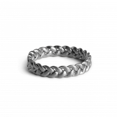 Medium Braided Ring, sterling silver