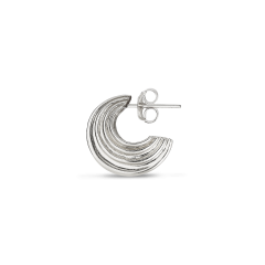 Small Sculpture Earring, sterlingsilver