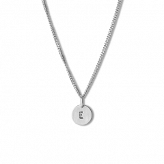 Combination of a Curb Chain and 1 Lovetag, sterling silver