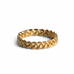 Medium Braided Ring, förgyllt sterlingsilver