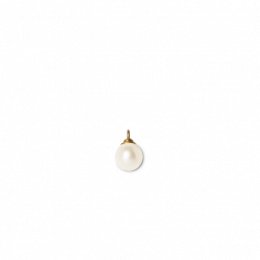 Pearl pendant for creoles, 18-karat gold