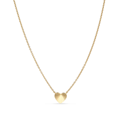 Reflection Heart necklace, förgyllt sterlingsilver