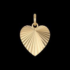 Reflection Heart pendant, förgyllt sterlingsilver