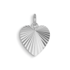 Reflection Heart pendant, sterlingsilver