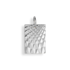 Reflection Square pendant, sterlingsilver