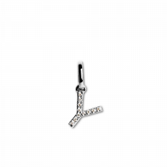 """Letter Pendant with Diamonds """"Y"""", 18 carat white gold"""